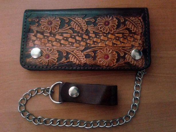 Новый кожаный кошелёк/портмоне ручной работы