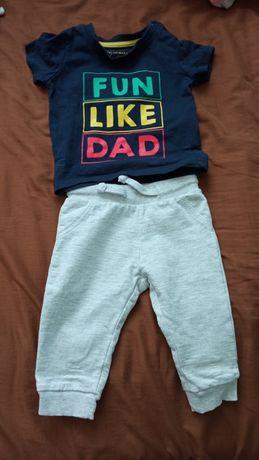 Komplet dla chłopca dresy Sinsay  i t-shirt z Primark r68