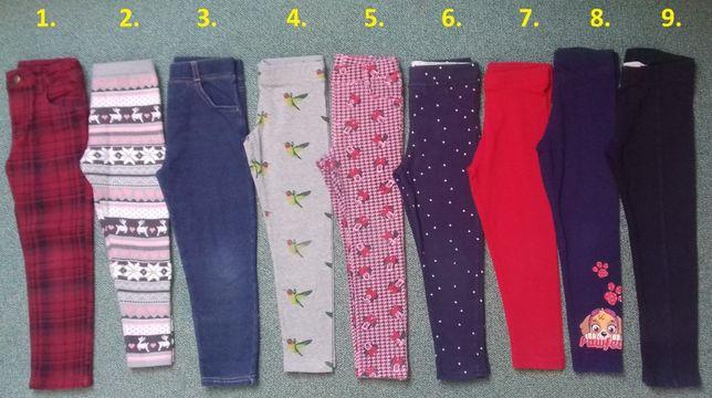 Getry-leginsy-ciepłe-kratka 3-4lata,4-5lat,5-6lat H&M,YD,Zara,Gap
