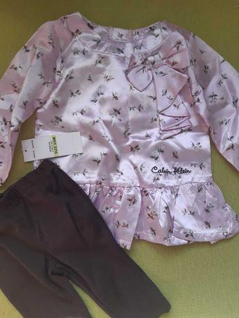 Нарядный стильный комплект крестины Calvin Klein на 3-6 мес