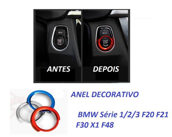 Anel Decorativo Start/Stop BMW bmw série 1/2/3 f20 f21 f30 x1 f48