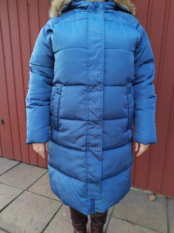 Kurtka płaszcz CARRY L niebieska pikowana zimowa na zimę ocieplana
