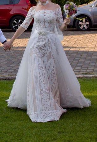 Продам Шикарное Свадебное Платье-Трансформер!Или отдельно Шлейф
