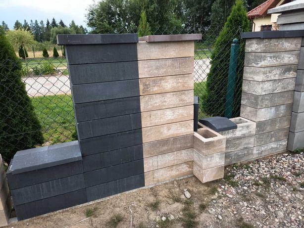 Ogrodzenia pustaki bloczki betonowe gładkie na nowoczesne
