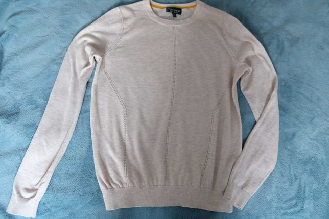 Cienki beżowy sweterek Topshop S