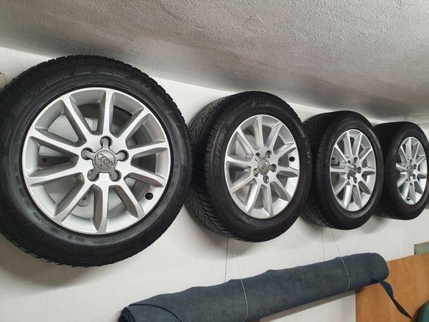 """Alufelgi Audi A6- A4 16 """" Opony zimowe 225/55 r.16."""