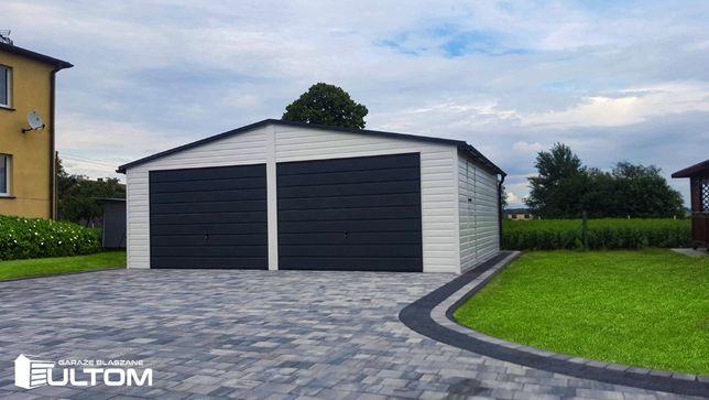 Dwustanowiskowy garaż blaszany 7x6 garaże blaszane na wymiar ULTOM