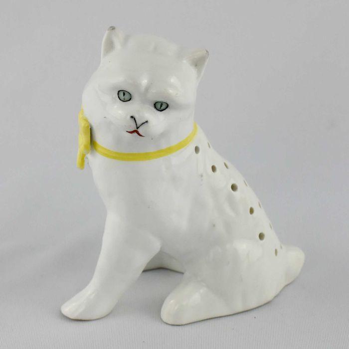 Paliteiro em Porcelana SP Coimbra em forma de gato