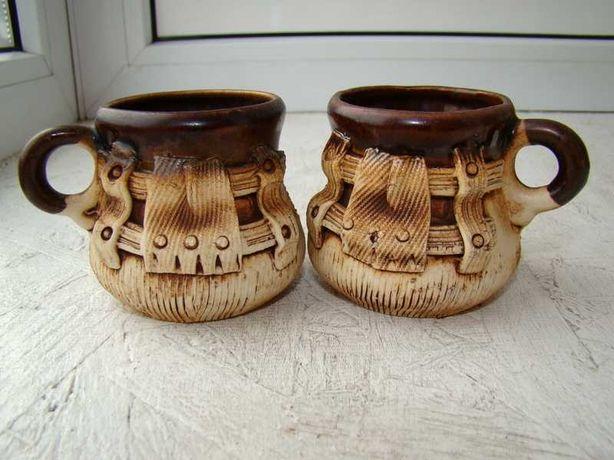 Набор кофейных чашек глина ручная работа