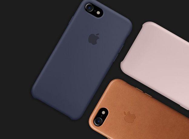 Capa Iphone 7 8 Plus Apple Original Pele - Genuine ENTREGA 24H
