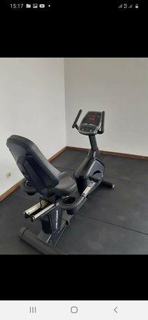Bicicleta reclinavel profissional ffitech, ginásio, cardio, musculação