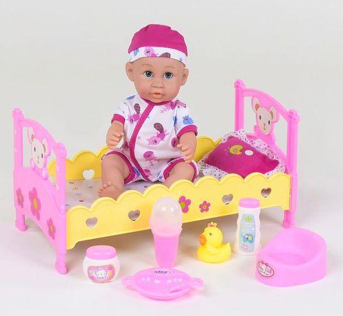 Кукла пупс лялька беби борн с кроваткой и аксессуарами