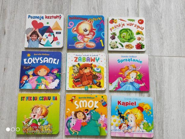 Książeczki kartonowe dla dzieci, malucha, zestaw