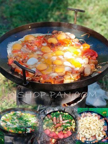 Сковорода из диска бороны для костра пикника дачи сковородка маленькая