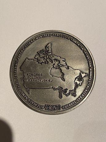 Medal 50-ty Kongres Polonii Toronto Canada 1994. Oksydowany