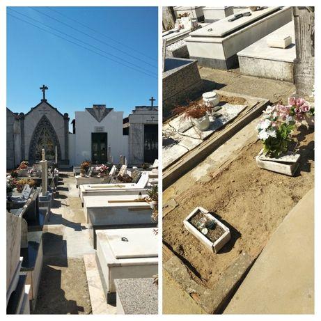 Campa funerária no cemitério de Esgueira