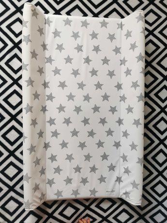 Przewijak CEBA BABY usztywniany, biały w gwiazdki, 50x80