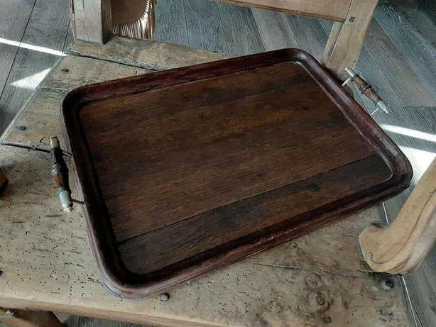 TACA drewniana  antyk
