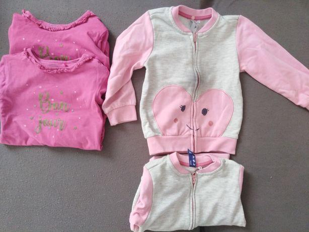 Body z długim rękawem roz 86 bluzy 51015 roz 86 dla bliźniaczek