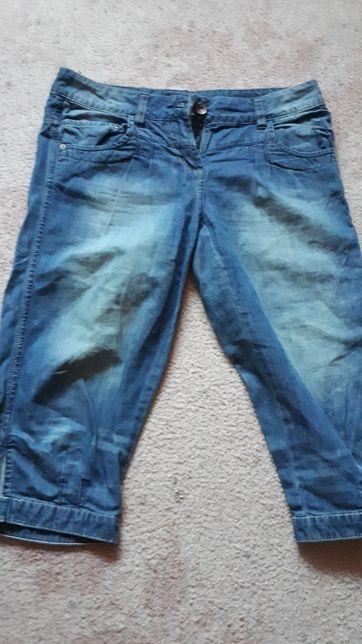spodnie krótki 3/4 jeansy 158cm