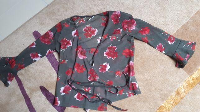 blusa de trespasse majodi
