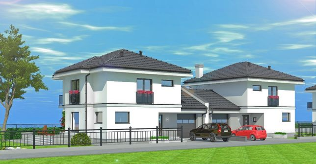 Nowy Dom z garażem Jednorodzinny w zabudowie Bliźniaczej Promienny SAD