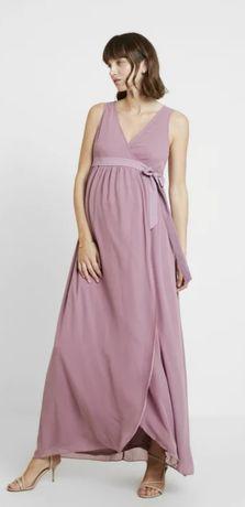 Sukienka ciążowa fioletowa różowa 40 L