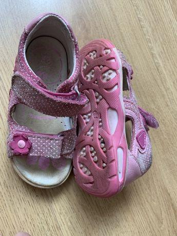 Skorzane sandalki Renbut_rozmiar 22