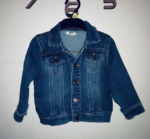 Kurtka jeansowa r.80 stan bdb