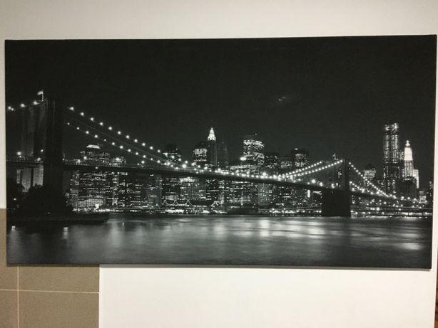 Duży foto obraz 150 x 80 cm Most Brookliński Brooklyn Bridge