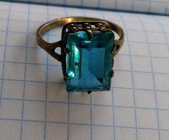 Перстень кольцо камень серебро звезда 875 пробы СССР