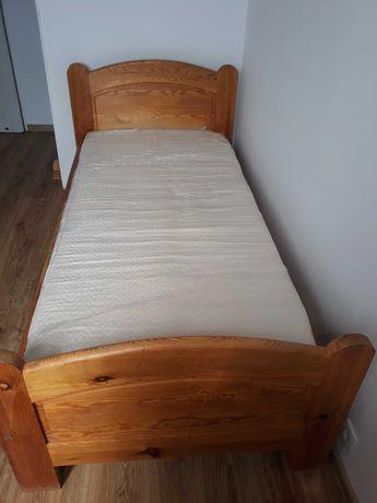 Łóżko drewniane z materacem 90