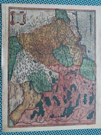 Reprint mapy Polski z 16wieku