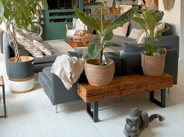 Konsola do przedpokoju, siedzisko z belek, stare drewno jodłowe, loft