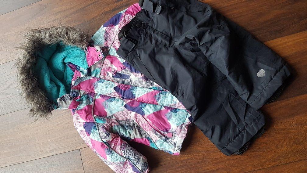 Kurtka zimowa, spodnie 92 zestaw zima dziewczynka
