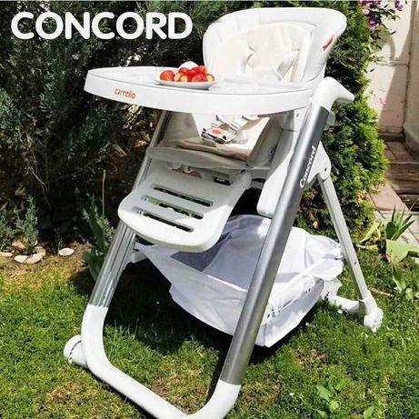 Качественный надежный стульчик для кормления ребенка Carrello Concord
