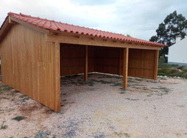 garagem / telheiro em madeira - Madeira&Conforto