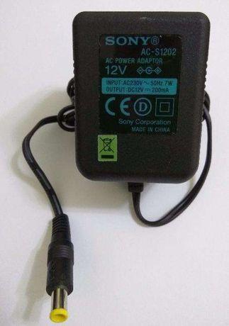 Transformador carregador original Sony AC-S1202 novo saída 12V 200mA