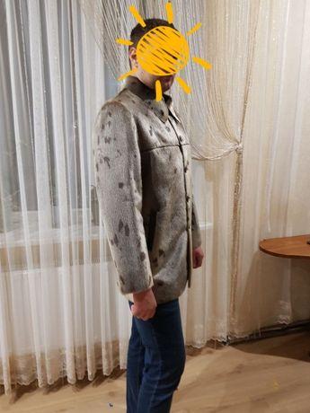 Новая мужская дубленка, куртка из меха нерпы, шуба, ДОСТАВК