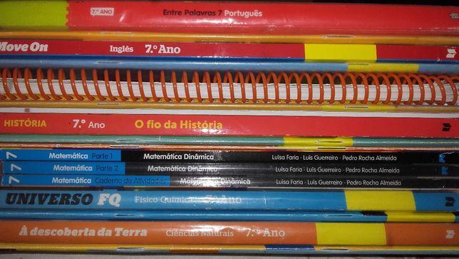 Livros Escolares 7º Ano (Conjunto 1)