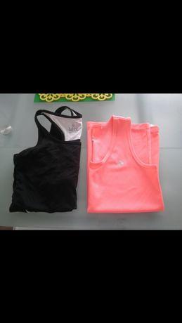 Zestaw 2 t-shirtow siłownia fitness sportowa odzież s