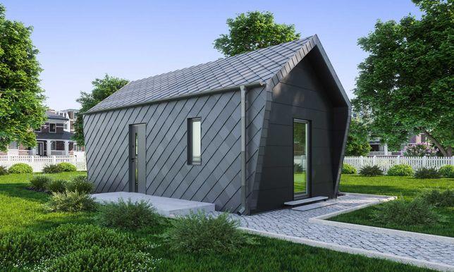 Dom całoroczny 30 m2 z antresolą ocieplony nowoczesny bez pozwolenia