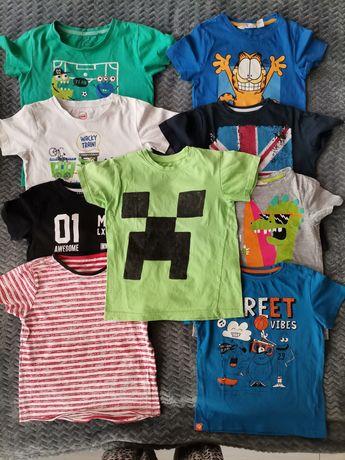 9 koszulek r. 116 dla chłopca