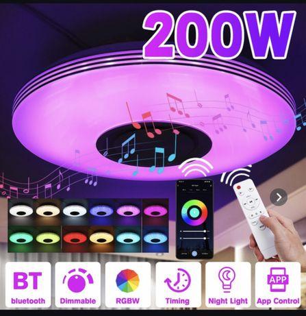 RGB, Lampada inteligente com coluna,3D,Bluetooth,LED,Comando,Interface
