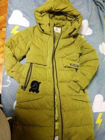 Куртка - пальто зимнее для девочки 10-13 лет