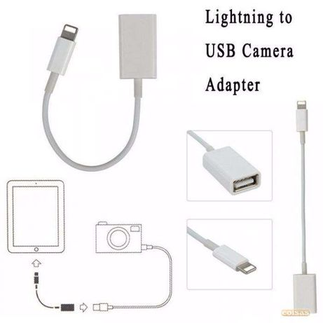 Z205 Cabo Adaptador 8 Pinos Lightning - USB OTG ipad iphone