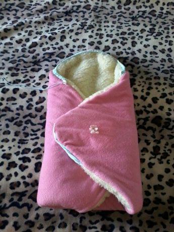 Зимние одеяло-конверт для новорожденных