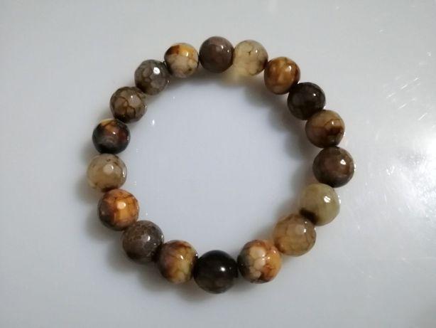 Bransoletka naturalny kamień Agat szlifowany