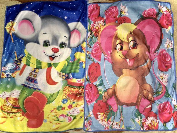 Полотенца салфетки платочки микрофибра вафельные мышки