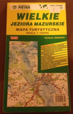 MAPA - Wielkie Jeziora Mazurskie - skala 1:125000
